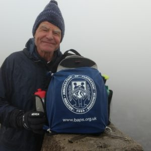 David Drake at the summit of Ben Nevis