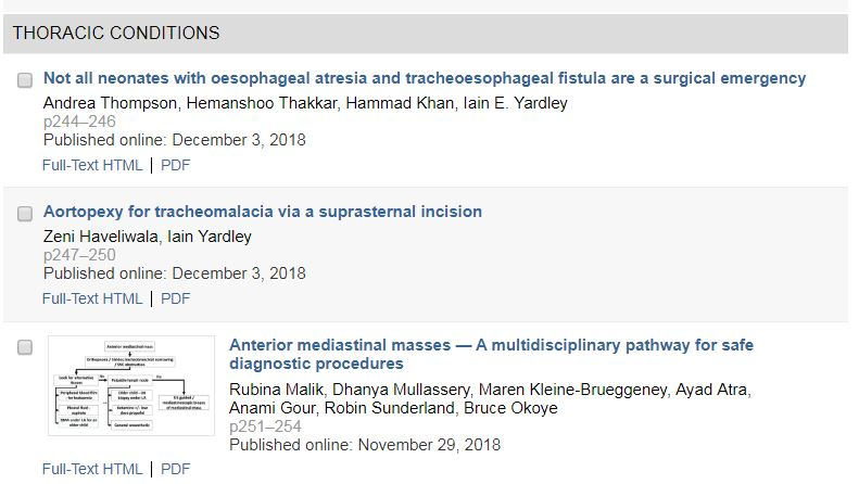 The Journal of Pediatric Surgery: Summary of the LXV
