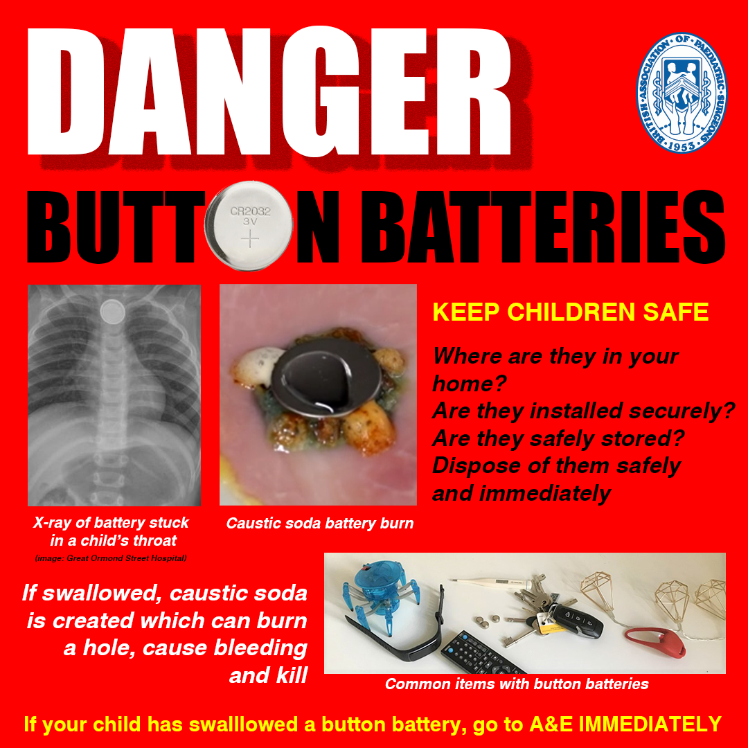 BAPS Button Battery Safety Flier for Instagram